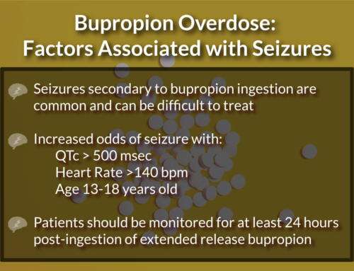 Bupropion Overdose: Factors Associated with Seizures