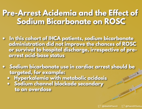 Pre-Arrest Acidemia and the Effect of Sodium Bicarbonate on ROSC